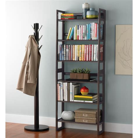 folding bookshelf java solid wood stackable folding