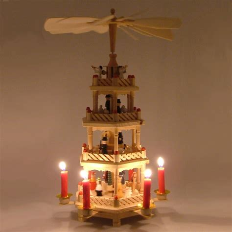 buy german christmas pyramid 4 tier