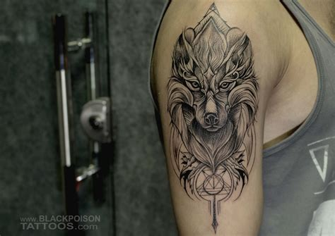 wolf family tattoo designs custom archives black poison studio