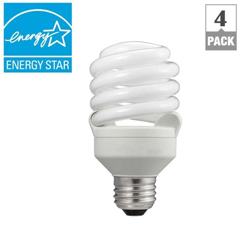 Lu Philips 52 Watt philips 75w equivalent soft white t2 spiral cfl light bulb