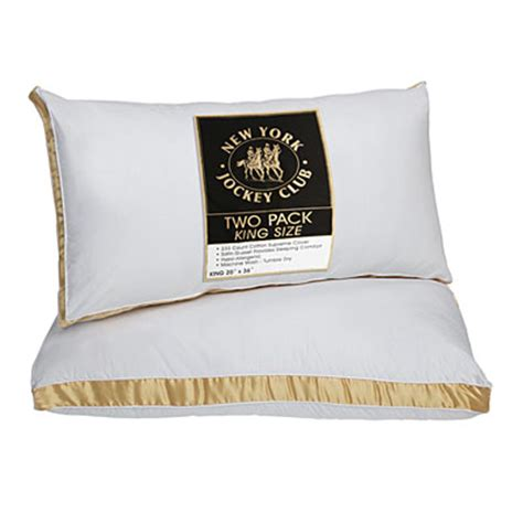 pillows for king size bed view new york jockey club 174 king size bed pillows 2 pack