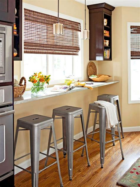 Breakfast Bar With Storage And Stools by 25 Cool Ways To Effectively Use A Windowsill Digsdigs