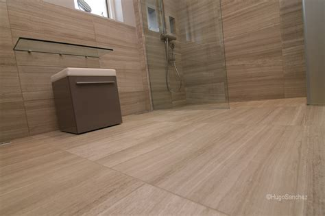 Limestone Bathroom by Curbless Limestone Shower 233 Ramiques Hugo Inc
