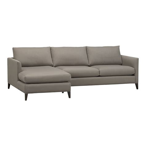 crate and barrel sectional couch klyne 2 piece sectional left arm chaise right arm