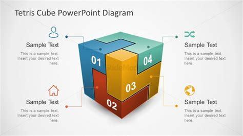 3d Tetris Cube Diagram Of Powerpoint Slidemodel Cube Powerpoint Template