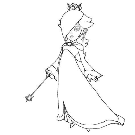 mario coloring pages princess princess rosalina lineart by anaisabel22 on deviantart