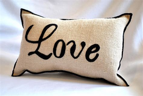 images of love pillow items similar to love amour burlap pillow on etsy