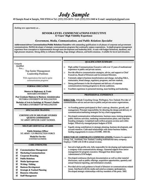 executive level resume templates 10 best images about resume sles on entry