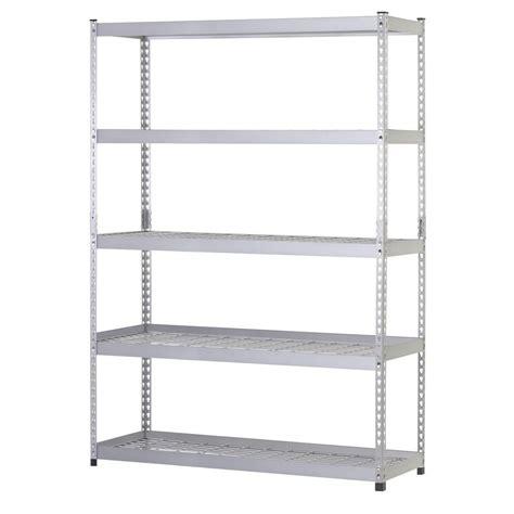 home shelving husky 78 in h x 48 in w x 24 in d 5 shelf steel unit