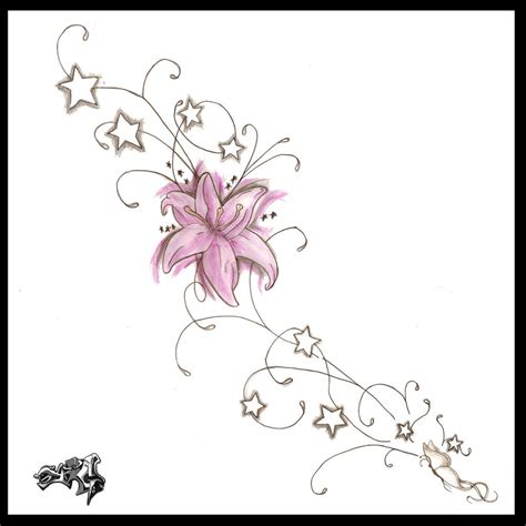 pink flower tattoo designs pink flower design