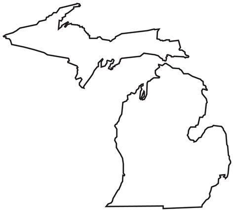 Outline Of Michigan State blank map of michigan clipart best