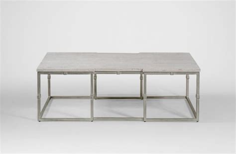 silver grey coffee table coffee table grey wood rectangular brushed silver alden