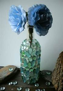 Clear Glass Beads For Vases Diy Upcycle Wine Bottle Into Decorative Vase Hip Earth