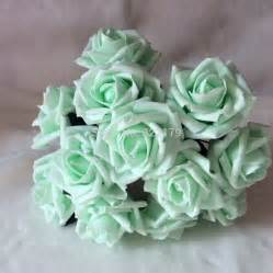 mint colored flowers aliexpress buy 72pcs free shipping mint green