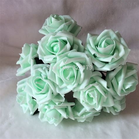 decorative flowers for home aliexpress buy 72pcs free shipping mint green artificial flowers bridal bouquet wedding