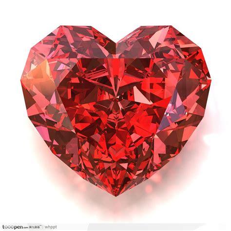 Big Ruby Sy 1 情人节素材 红色璀璨的心形红宝石 钻石 素材公社 tooopen