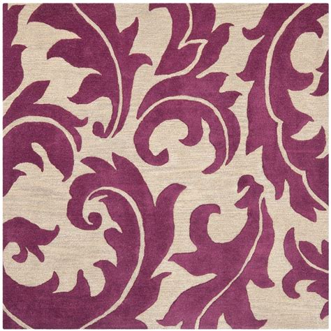purple and beige rug safavieh soho purple beige 6 ft x 6 ft square area rug soh841b 6sq the home depot