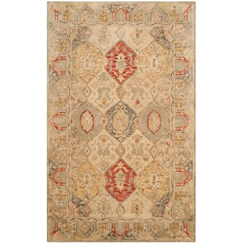 safavieh wool rugs safavieh antiquity collection beige and multi beige area