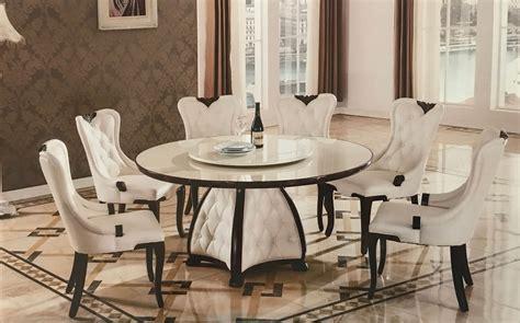 7 piece round dining room set 7 piece mystra marble modern round dining set