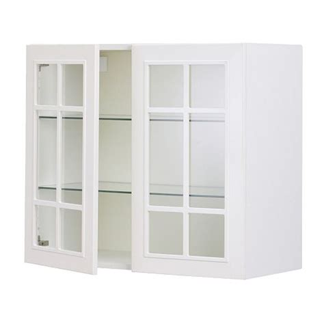 Armoire Glass Doors by Faktum Wall Cabinet With 2 Glass Doors St 229 T White