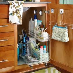 Bathroom Sink Organizer Ideas by Under The Sink Storage Solutions The Hanger Under Sink