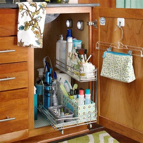 under sink storage ideas bathroom under the sink storage solutions the hanger under sink