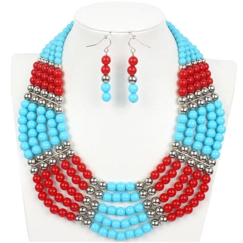 bead necklace 2015 beaded fashion statement necklace