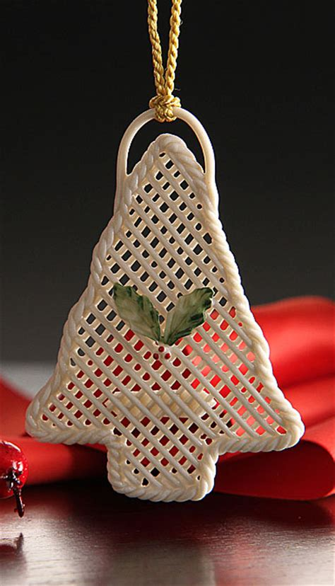 belleek basket christmas tree ornament