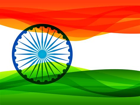 Flag Of India Backgrounds Blue Flag Green Orange Templates Free Ppt Backgrounds And India Powerpoint Template