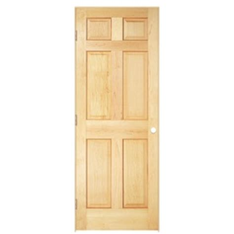 30 X 78 Prehung Interior Door Shop Reliabilt Prehung Solid 6 Panel Pine Interior Door Common 30 In X 78 In Actual 31