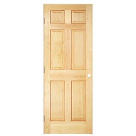 29 Inch Interior Door by Shop Reliabilt 6 Panel Solid No Skin Pine Right
