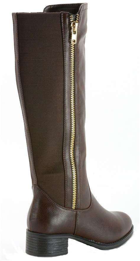 Limited Knee Mitzuda 231 Terlaris alpine swiss davos s boots knee length low heel 2 zip elastic shaft ebay