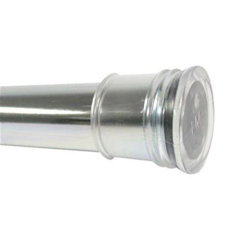 zenith 43 in 72 in tension shower curtain rod in
