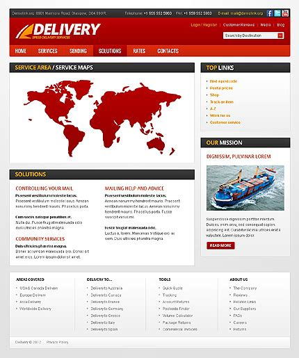 Delivery Services Website Template 38437 Courier Website Template