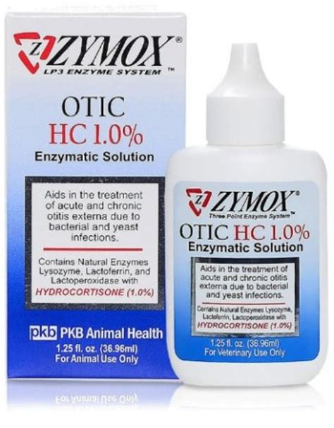 ear infection medicine pet king brand zymox otic enzymatic solution for pet ears 1 25 ounces all the best