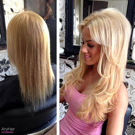 before after hair extensions hair extension before and after picture on and