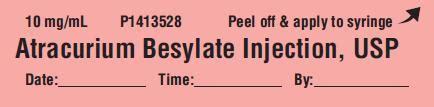 10ml Fa Fig dailymed atracurium besylate atracurium besylate