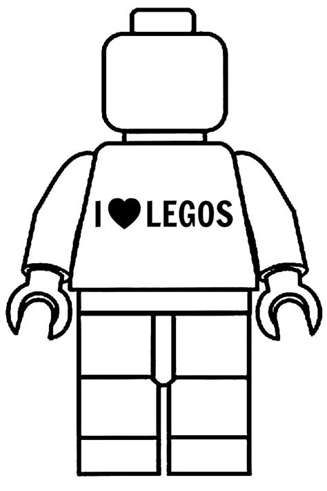 lego minifigure template customized this minifigure with an quot i legos quot t shirt