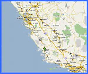 map of california central coast deboomfotografie
