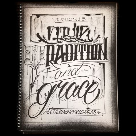tattoo fonts v style tradition and grace v1 5 big meas lettering