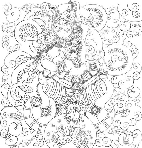 Mural Designs Outline by Image Result For Kerala Mural Painting Outline Sketches Bagavathi Mural