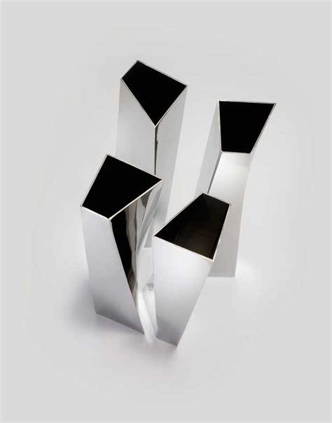 Stainless Steel Vase Crevasse Vase Alessi Zaha Hadid Stainless Steel Design