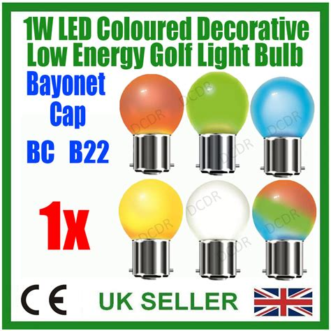 Low Energy Led Light Bulbs 1w Golf Led B22 Low Energy Light Festoon Bulb Bc Various