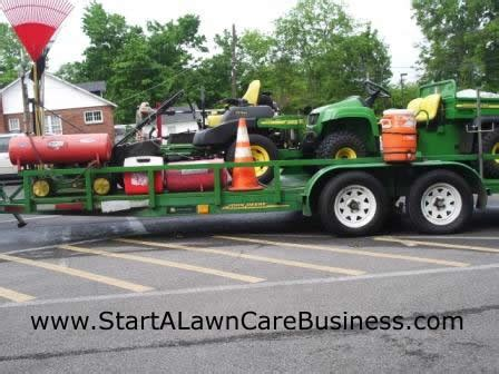 start a lawn care business landscaping business mowing