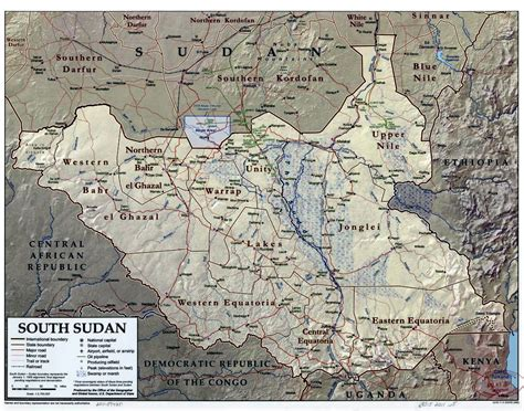 south sudan map south sudan maps