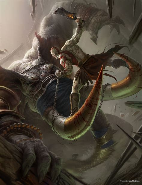 film fantasy guerra god of war ascension concept art by izzy medrano