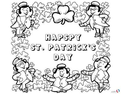 free printable st day coloring pages happy st s day shamrock coloring pages free