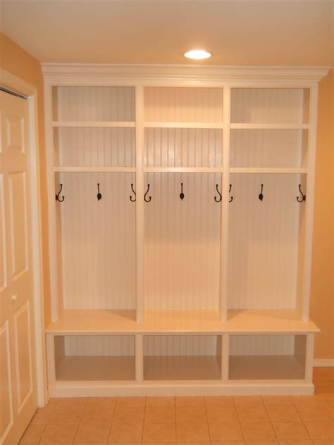 home plans with mudroom custom mud room lockers thinking slightly smaller and make 4 of 6 of them for the garage