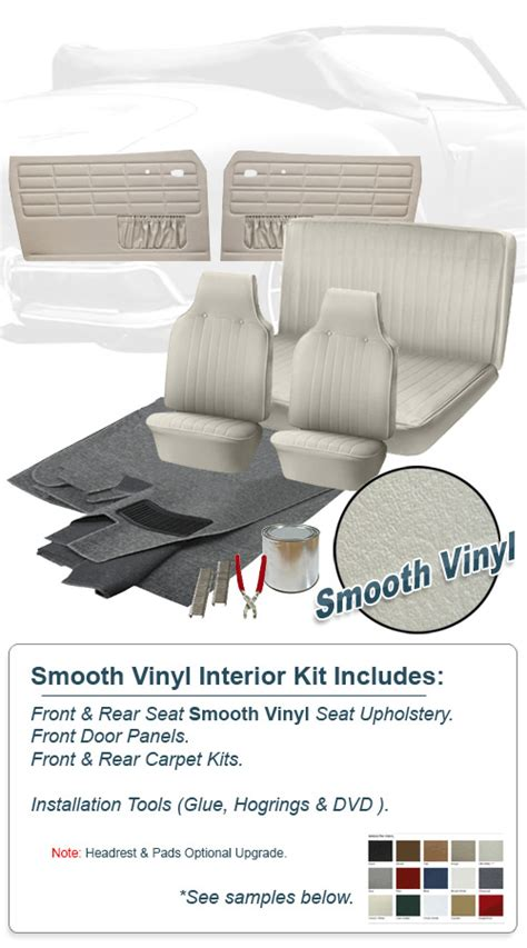 Karmann Ghia Interior Kit by Deluxe Smooth Vinyl Vw Interior Kit Karmann Ghia