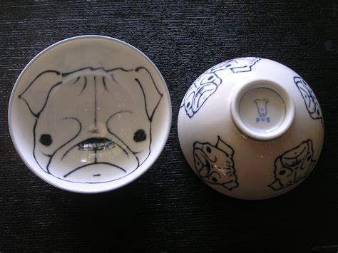 pug bowl ceramic rice bowls pearl essence japanese gifts